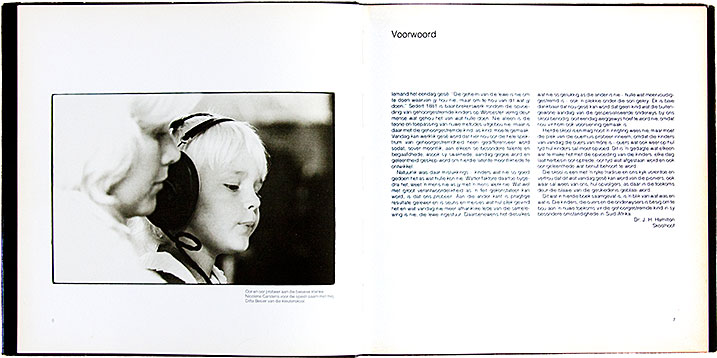 Spread from a book produced for the Institute for the Deaf produced for its centenary in 1981